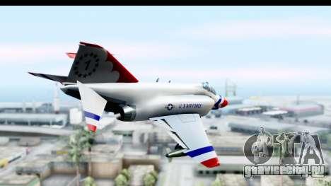 F-4 Phantom II Thunderbirds для GTA San Andreas вид справа