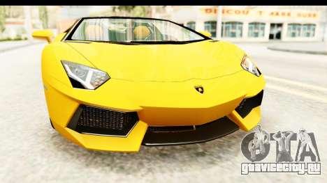 Lamborghini Aventador LP700-4 Roadster v2 для GTA San Andreas вид сбоку