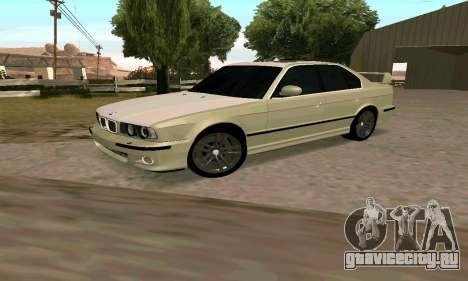 BMW M5 E34 для GTA San Andreas вид слева
