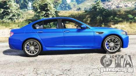 BMW M5 (F10) 2012 [replace] для GTA 5 вид слева