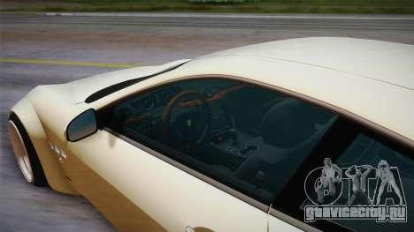 Maserati Gran Turismo Rocket Bunny для GTA San Andreas вид сзади