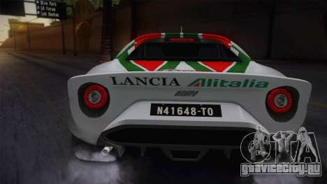 Lancia Stratos для GTA San Andreas вид сзади