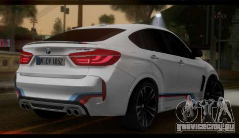 BMW X6M F86 M Performance для GTA San Andreas вид слева