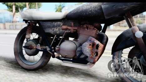 Kawasaki KZ900 1973 Mad Max 2 для GTA San Andreas вид сзади