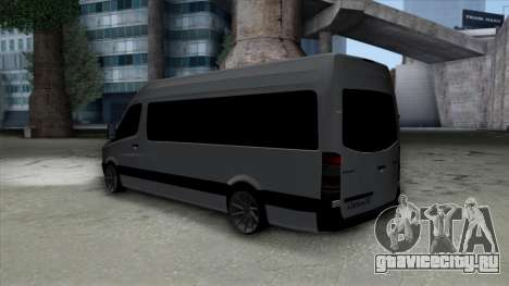 Mercedes-Benz Sprinter для GTA San Andreas вид сзади слева