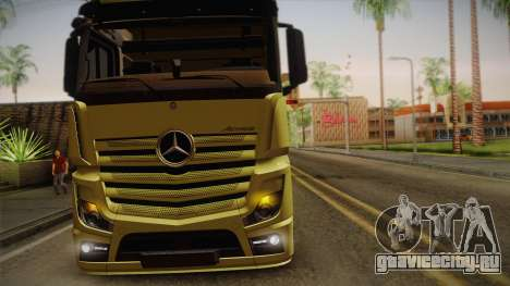Mercedes-Benz Actros Mp4 v2.0 Tandem Big для GTA San Andreas вид изнутри