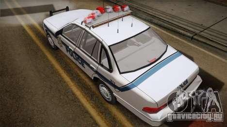 Ford Crown Victoria 1997 El Quebrados Police для GTA San Andreas вид сзади слева