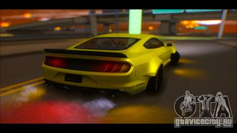 Ford Mustang 2015 Liberty Walk LP Performance для GTA San Andreas вид сбоку