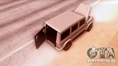 Mercedes-Benz G65 для GTA San Andreas вид изнутри