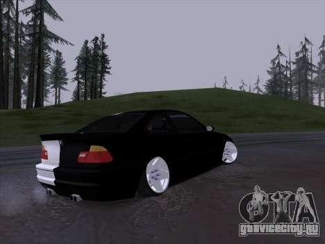 BMW E46 Good and Evil для GTA San Andreas вид сзади