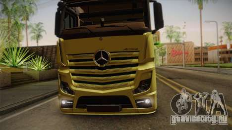Mercedes-Benz Actros Mp4 v2.0 Tandem Big для GTA San Andreas вид сзади