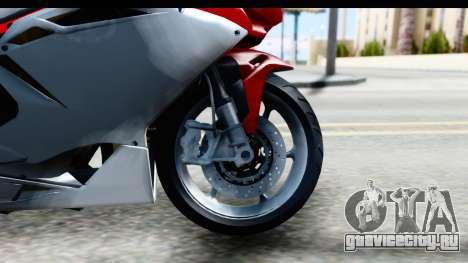 MV Agusta F4 для GTA San Andreas вид сзади