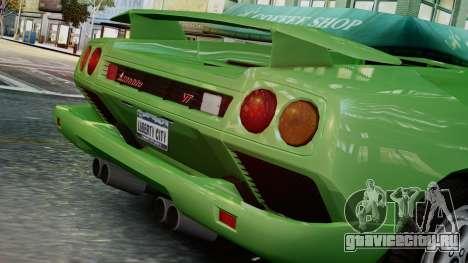 Lamborghini Diablo VT 1990 для GTA 4 вид сзади