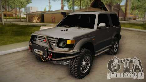 Mitsubishi Pajero 3-Door Off-Road для GTA San Andreas