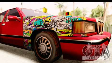 Elegant Sticker Bomb для GTA San Andreas вид сзади