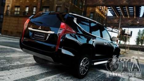 Mitsubishi Montero Sport 2016 для GTA 4 вид изнутри