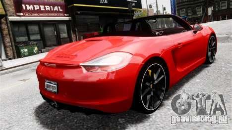 Porsche Boxster GTS 2014 для GTA 4 вид слева