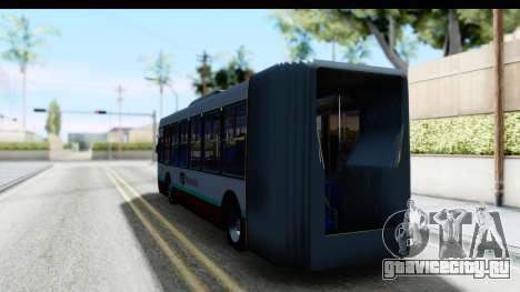 Metrobus de la Ciudad de Mexico для GTA San Andreas вид сзади слева
