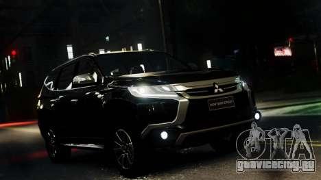 Mitsubishi Montero Sport 2016 для GTA 4 вид сзади слева