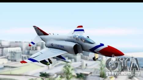 F-4 Phantom II Thunderbirds для GTA San Andreas вид сзади слева