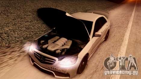 Mercedes-Benz Е63 для GTA San Andreas вид сверху