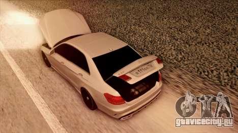 Mercedes-Benz Е63 для GTA San Andreas вид снизу