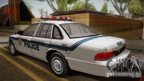Ford Crown Victoria 1997 El Quebrados Police для GTA San Andreas вид слева