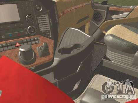 Mercedes-Benz Actros Mp4 4x2 v2.0 Bigspace v2 для GTA San Andreas вид изнутри