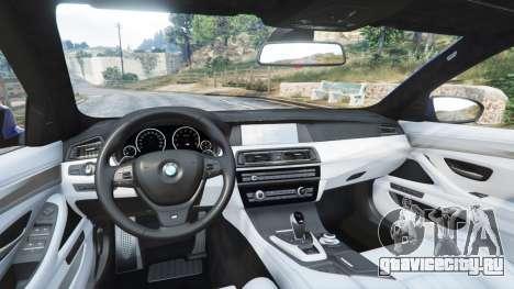 BMW M5 (F10) 2012 [replace] для GTA 5 вид спереди справа