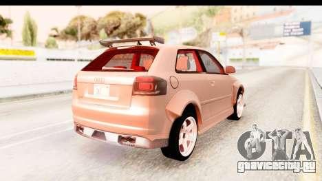 Audi S3 Slaam для GTA San Andreas вид слева