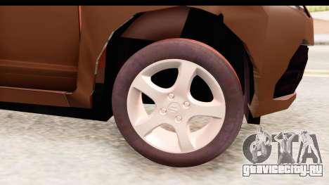 Honda Brio для GTA San Andreas вид сзади