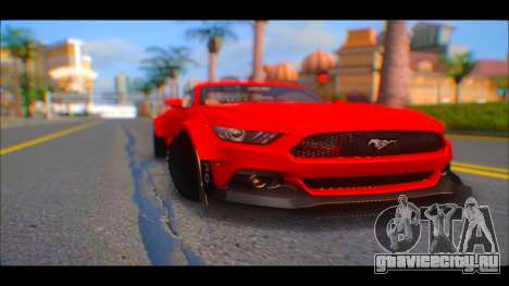 Ford Mustang 2015 Liberty Walk LP Performance для GTA San Andreas вид справа