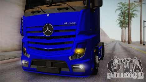 Mercedes-Benz Actros Mp4 6x4 v2.0 Gigaspace для GTA San Andreas вид сзади