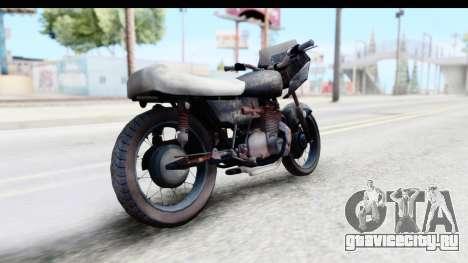 Kawasaki KZ900 1973 Mad Max 2 для GTA San Andreas вид сзади слева