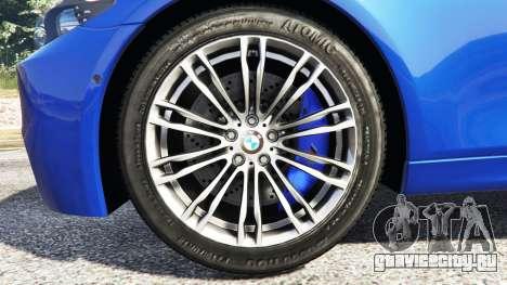 BMW M5 (F10) 2012 [replace] для GTA 5 вид сзади справа