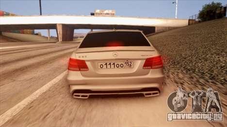 Mercedes-Benz Е63 для GTA San Andreas вид сбоку