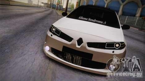 Renault Megan для GTA San Andreas вид сзади слева