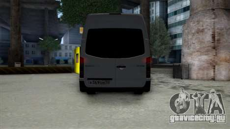 Mercedes-Benz Sprinter для GTA San Andreas вид изнутри