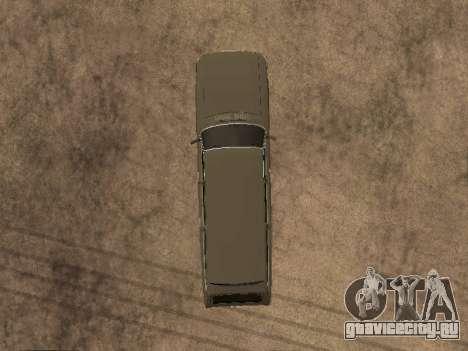 ГАЗ 31022 для GTA San Andreas вид изнутри