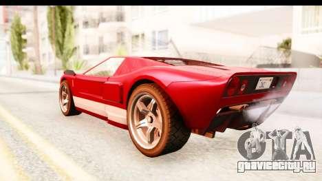GTA 4 TboGT Bullet для GTA San Andreas вид сзади слева