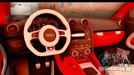 Audi S3 Slaam для GTA San Andreas вид изнутри