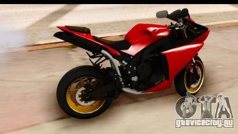 Yamaha R1 2014 для GTA San Andreas вид справа