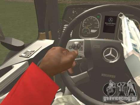 Mercedes-Benz Actros Mp4 6x2 v2.0 Bigspace для GTA San Andreas вид сбоку