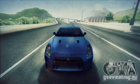 Nissan GT-R R35 Premium для GTA San Andreas вид сзади слева