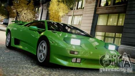 Lamborghini Diablo VT 1990 для GTA 4 вид справа