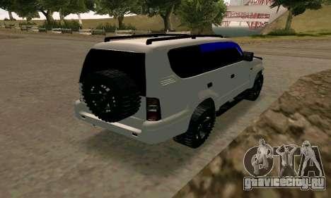 Toyota Land Cruiser 95 для GTA San Andreas вид сзади слева
