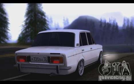 ВАЗ 2106 Стил для GTA San Andreas вид сзади слева