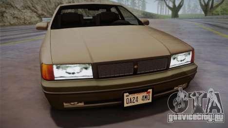 Declasse Premier 1992 SA Style для GTA San Andreas вид сзади слева