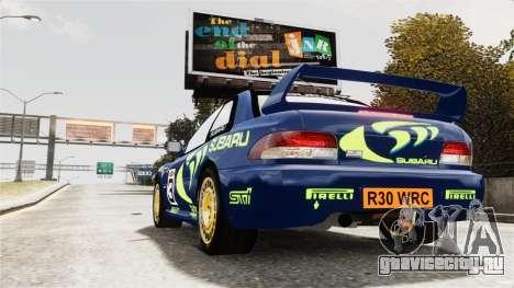 Subaru Rally WRC Impreza 98 v8 для GTA 4 вид слева
