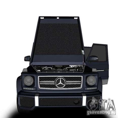 Mercedes-Benz G63 для GTA San Andreas вид сзади слева
